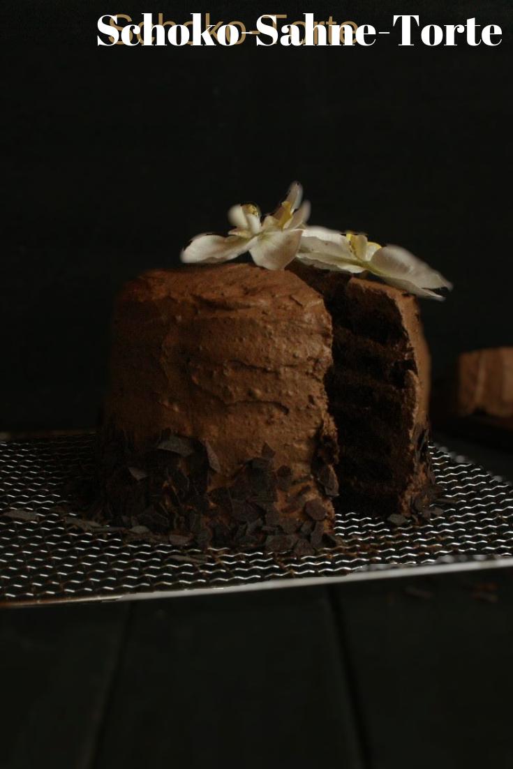 Schoko Torte Rezept Schoko Sahne Torte Waffelkekse Und Schoko Biskuit