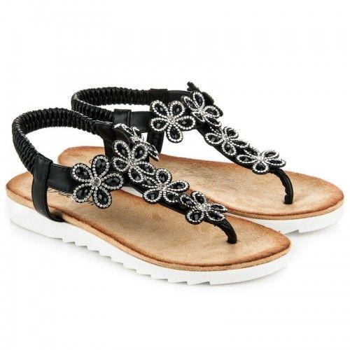 391bdf765d78 Dámské sandály Abloom Hakelt černé – černá Krásné dámské sandály bez  zapínaní vám přináší pohodlí a