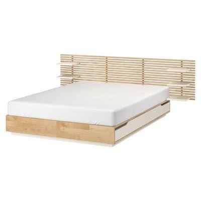 Mandal Kopfteil Birke Weiss Ikea Schweiz In 2020 Kopfteil Bett Bett Ideen Und Diy Wohnen