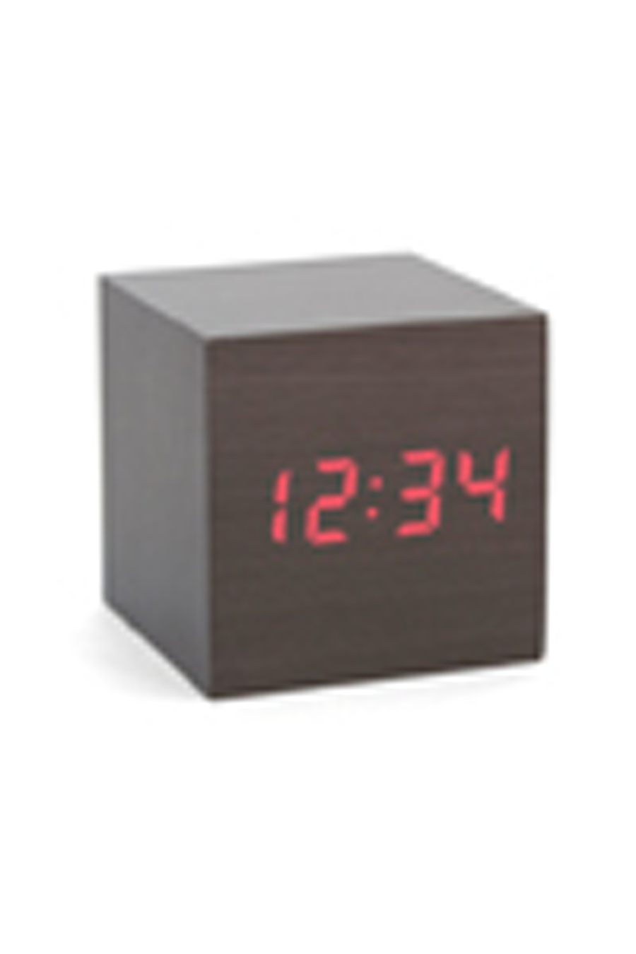 Kikkerland Alarm Clock Wood Cube Dark Whovians Would See This A