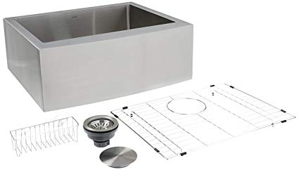Zuhne 24 Inch Single Bowl Farmhouse Curved Apron Front Stainless Apron Front Stainless Steel Kitchen Sink Stainless Steel Kitchen Sink Stainless Steel Kitchen