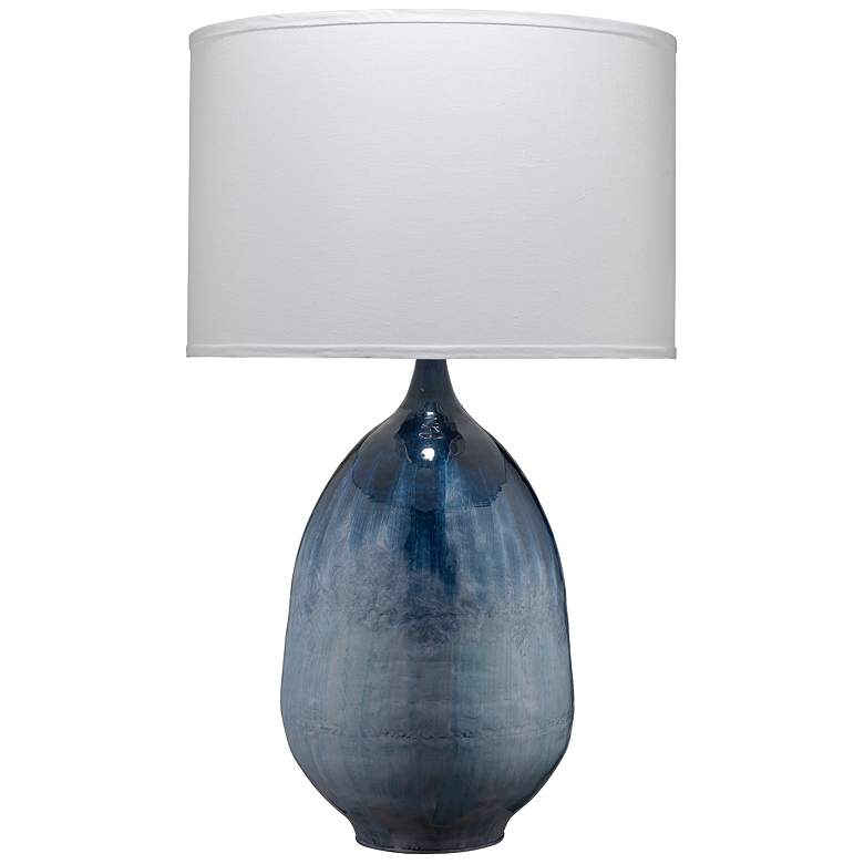Jamie Young Twilight Blue Ombre Enameled Metal Table Lamp 75e60 Lamps Plus Metal Table Lamps Table Lamp Lamp