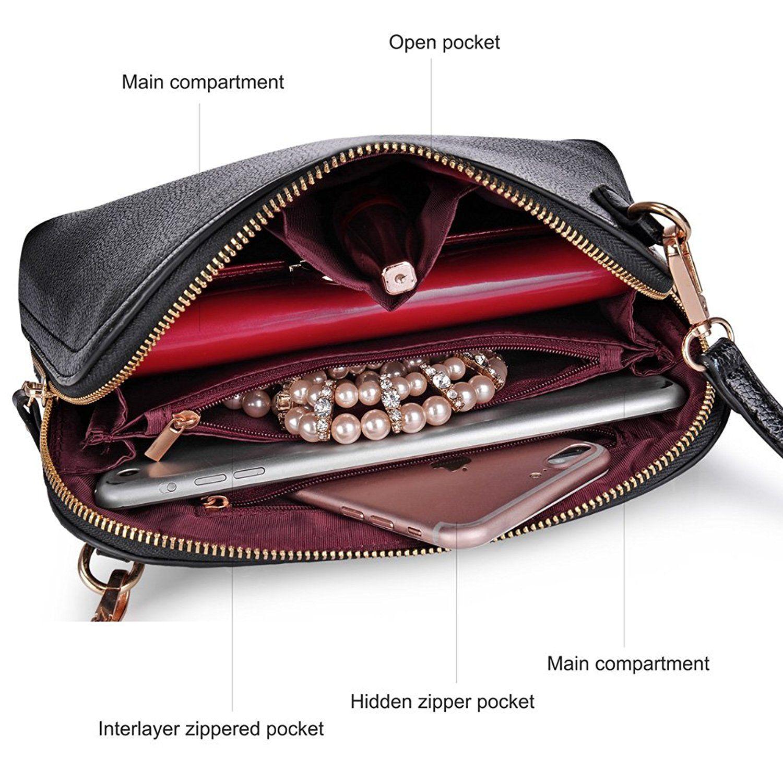 Vbiger женщин сумка моды сумки PU кожа Маленькие сумки на ремне сумки сцепления Повседневный Дорожная сумка: Сумки: Amazon.com