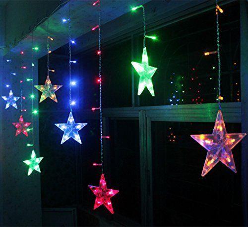 Étoiles Lumières de Rideaux,8 Modes Clignotant Décoration Intérieur ...