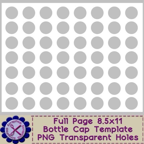 Free Bottle Cap Images Template Bottle Cap Template - Full Size - dot paper template