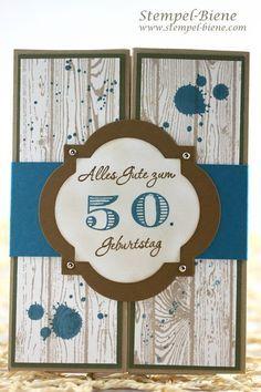 Karte 50 Geburtstag Stampin Up Wood Google Suche Geburtstag