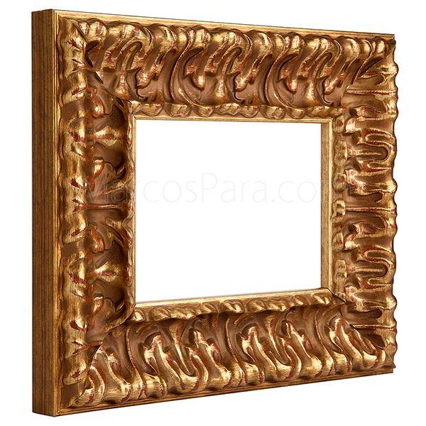 Moldura de madera 624 marcos para molduras de madera y - Moldura madera pared ...