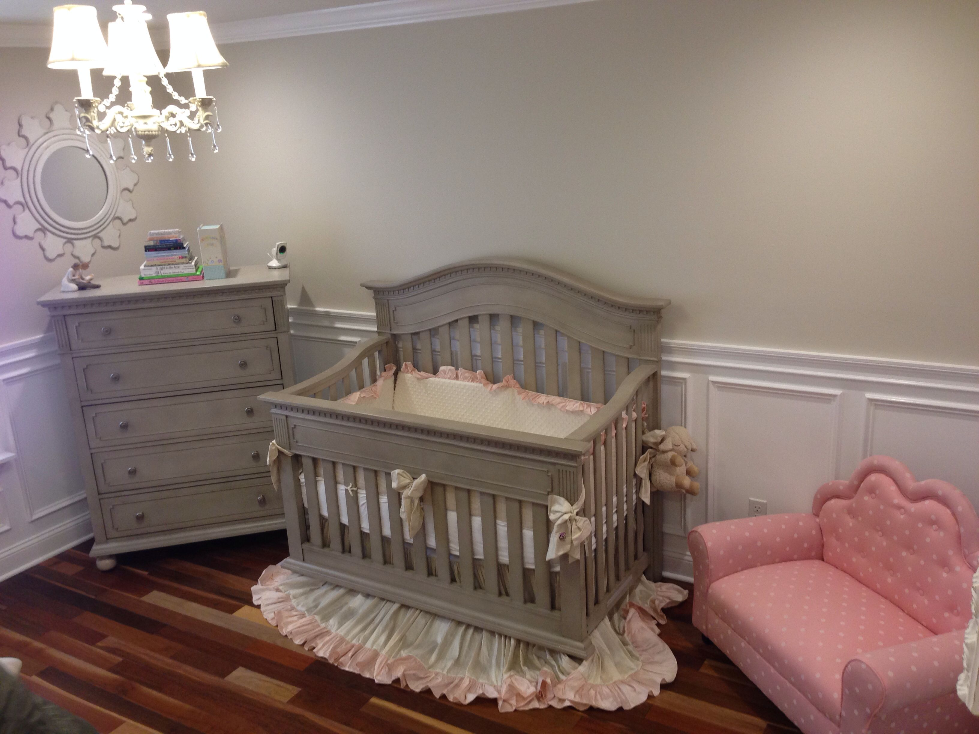Elegant S Nursery Traditional Victorian With Wainscoting In A Baby