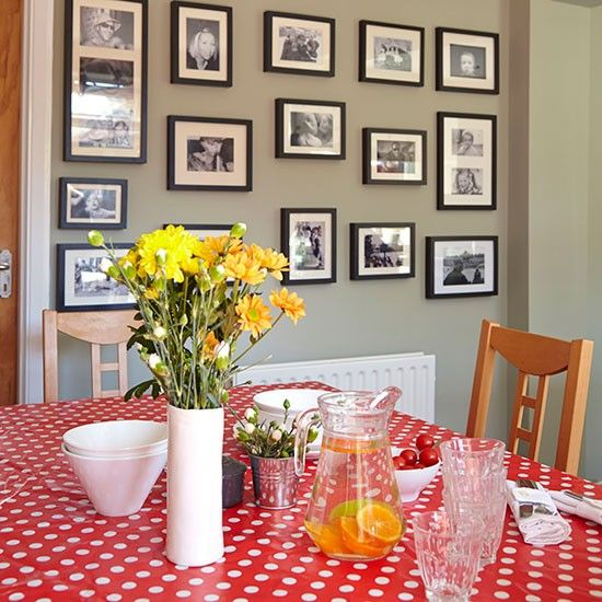 Habitat Ike Black And White  Dining Room Decorating Decorating Entrancing Grey And Red Dining Room Decorating Design