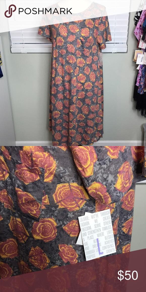 🆕 with tags!! LuLaRoe Carly NWT LuLaRoe Carly. Gorgeous rose print!! LuLaRoe Dresses High Low