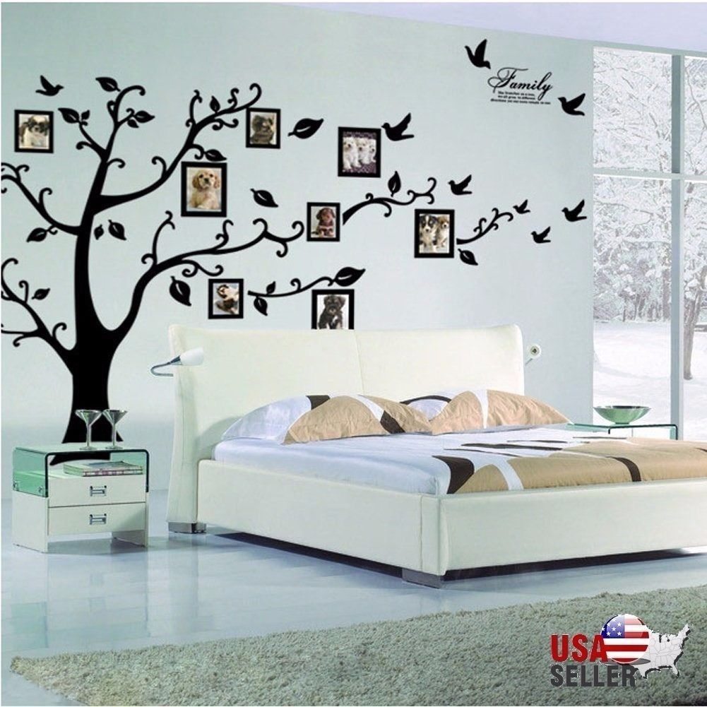Wall decal new york letter frame cheap stickers world discount - Family Tree Wall Decal Sticker Large Vinyl Photo Picture Frame Removable Black 12 95