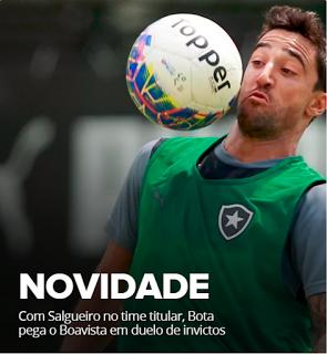 BotafogoDePrimeira: Com Salgueiro no time titular, Bota pega o Boavist...