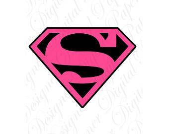 Pink Superman Svg And Studio 3 Cut File Cutouts Files Logo