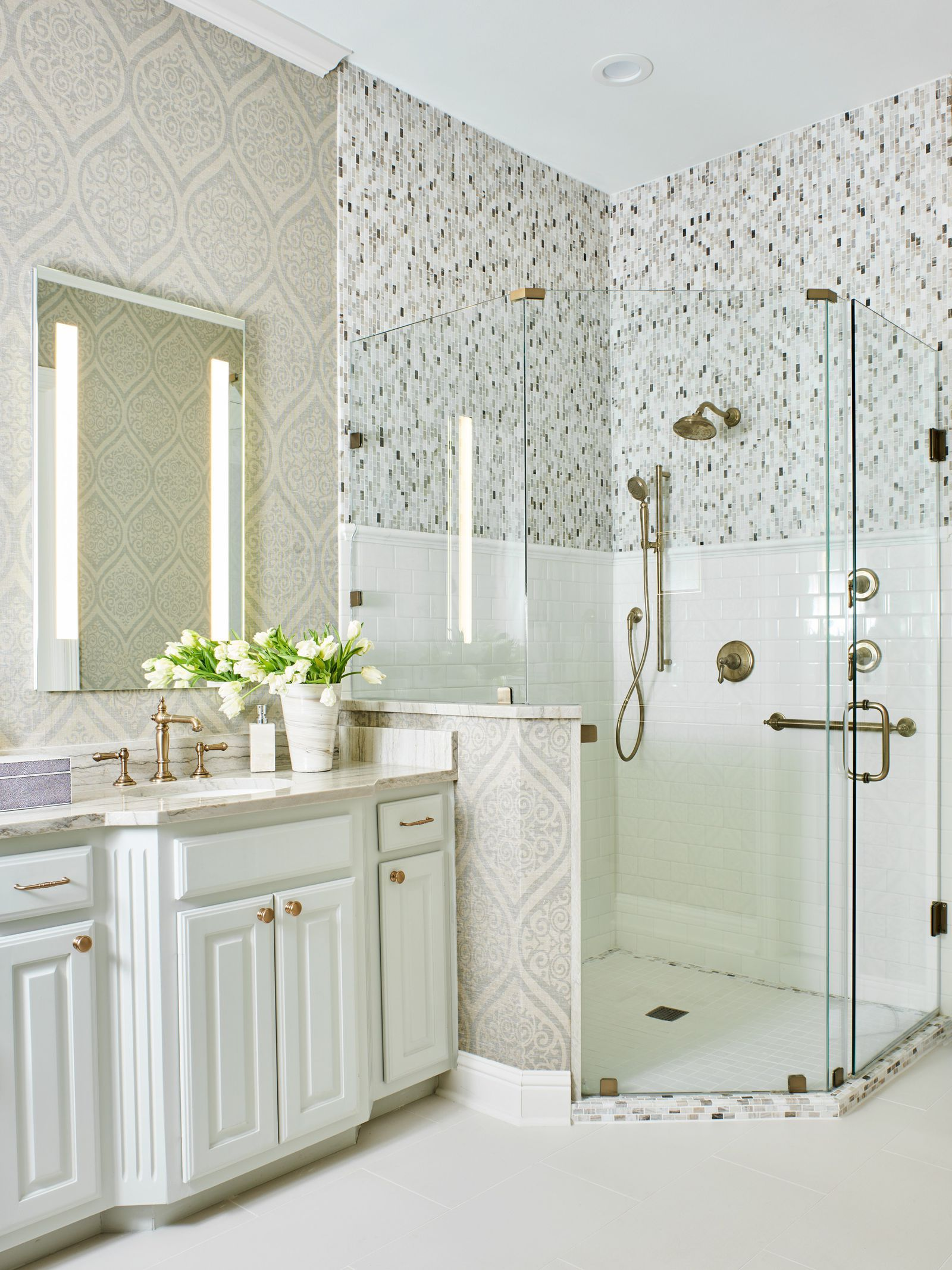 Bathroom Wallpaper Grey