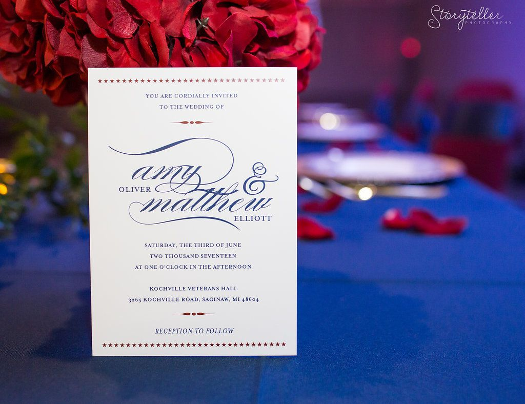 Military Styled Shoot created by Splendid Events, Invitation ...