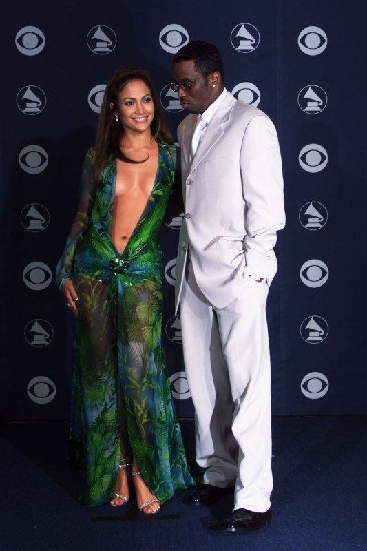 """Jennifer Lopez & Sean """"Puffy"""" Combs hit the 42nd Annual Grammystogether."""
