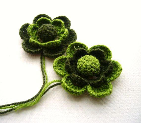 Pack Of 2 Hand Crochet Olive Apple Green Acrylic By Craftsbysigita