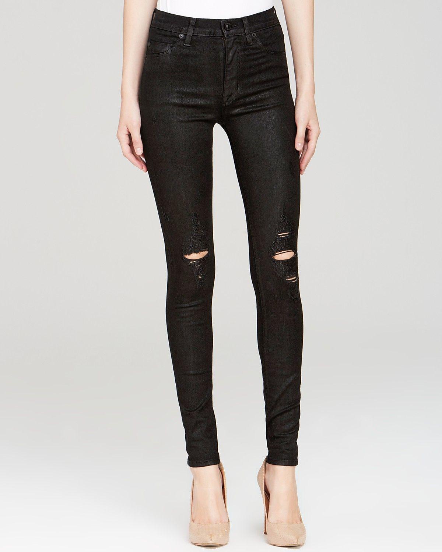 5f2f9c87a4b Hudson Jeans - Barbara High Rise Skinny in Waxed Skylark | Bloomingdale's
