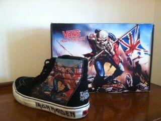 Vans Iron Maiden Hi-Top Shoes RARE