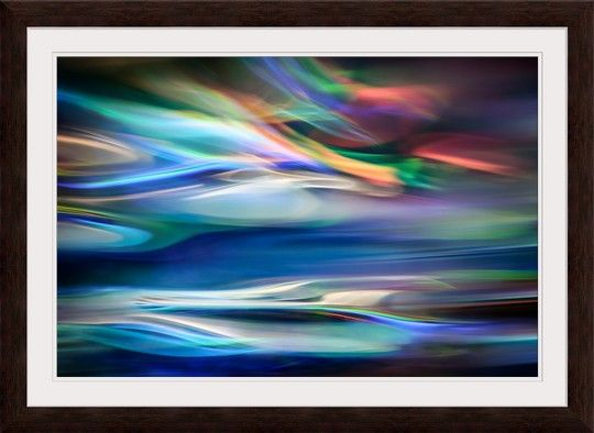 Colorful blue abstract fine art photography from GreatBIGCanvas.com