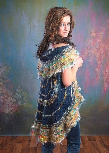 Circular Tweed/Handspun Vest Pattern by SimplePatterns on Etsy, $7.00