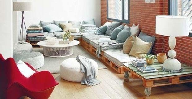 Decoración Low Cost, Mobiliario para terraza con Palets Muebles