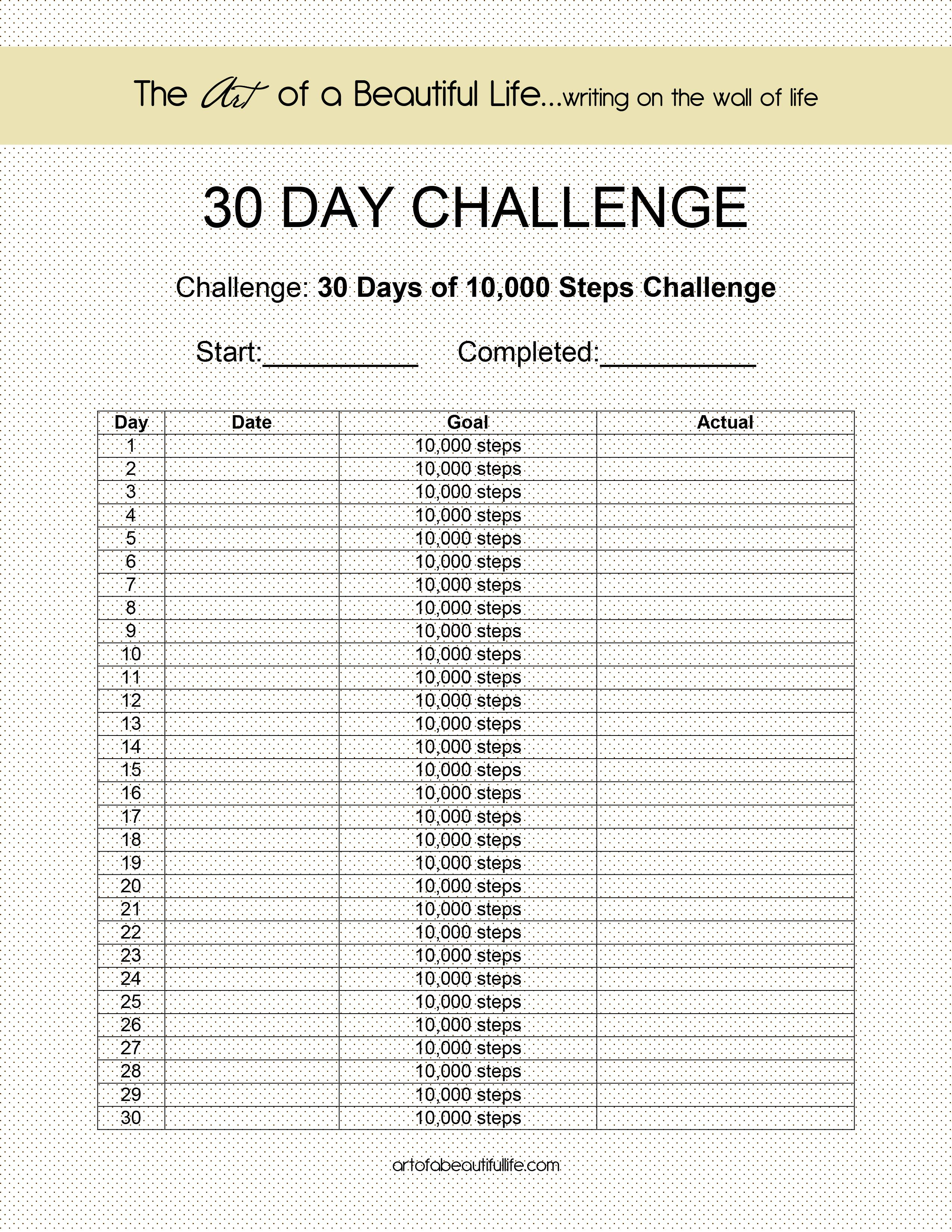 10,000 Steps A Day For 30 Days - Let's Do It!