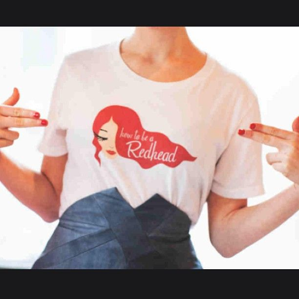 Double tap if you agree: How to be a Redhead is where its at!! Oh, & if you want a rockin #redhead t-shirt like this, go to -- www.HowtobeaRedhead.com/Shop  #RockitlikeaRedhead #HowtobeaRedhead