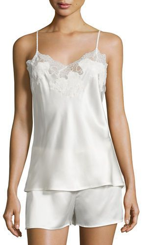fda8105a4 Natori Jasmine Lace-Trimmed Two-Piece Nightie Set