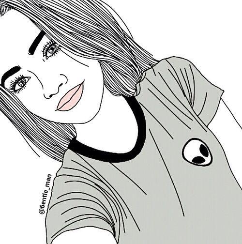 Imaginen Chicas Dibujos Tumblr Para Colorear Dibujos Dibujos