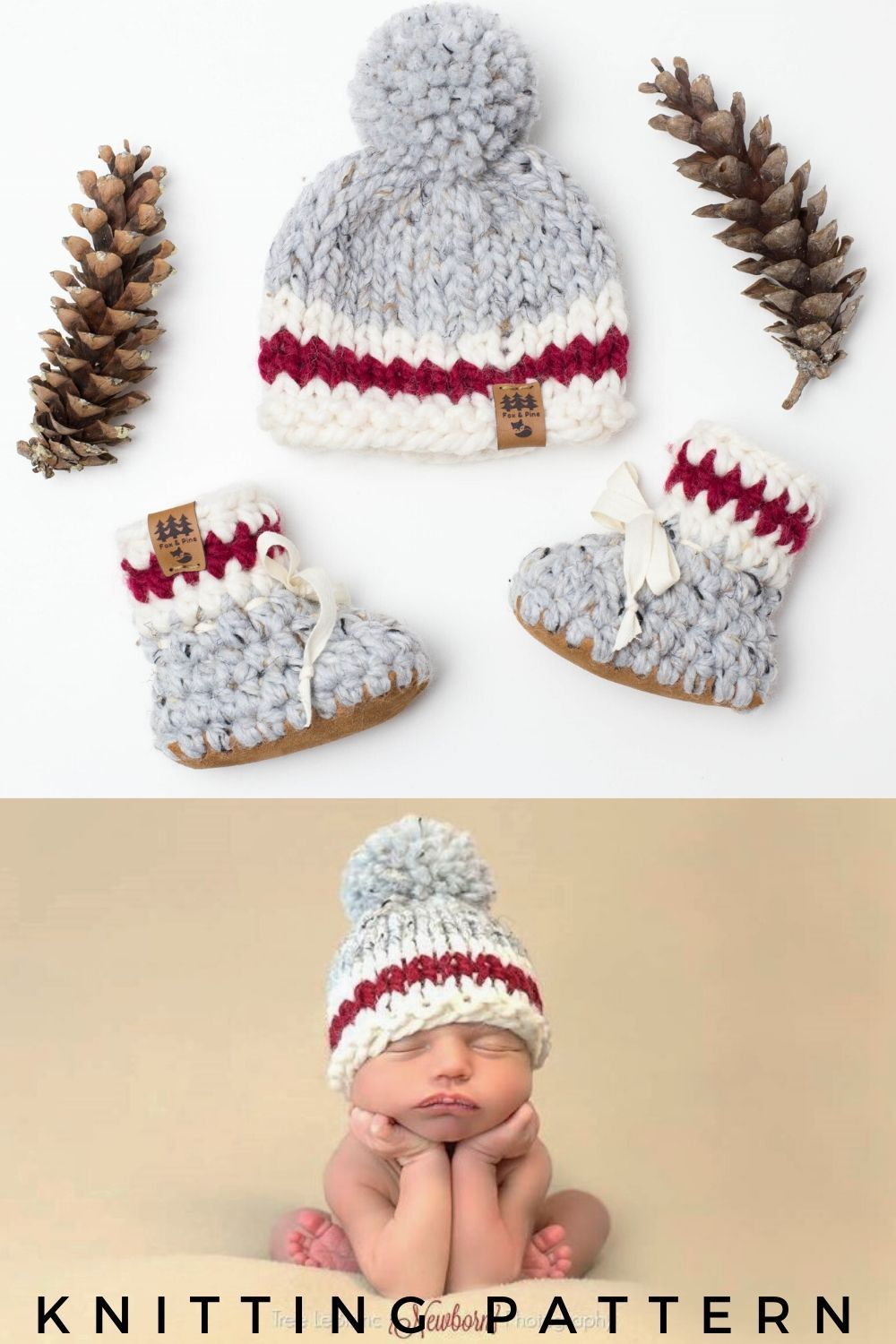 Red Stripe Roots Canadian Chunky Hat Knitting Pattern in ...