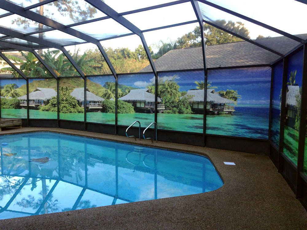 Increase Privacy And Improve Your View Would You Like A Million Dollar View A For A Price You Can Privacy Screen Outdoor Pool Screen Enclosure Pool Enclosures