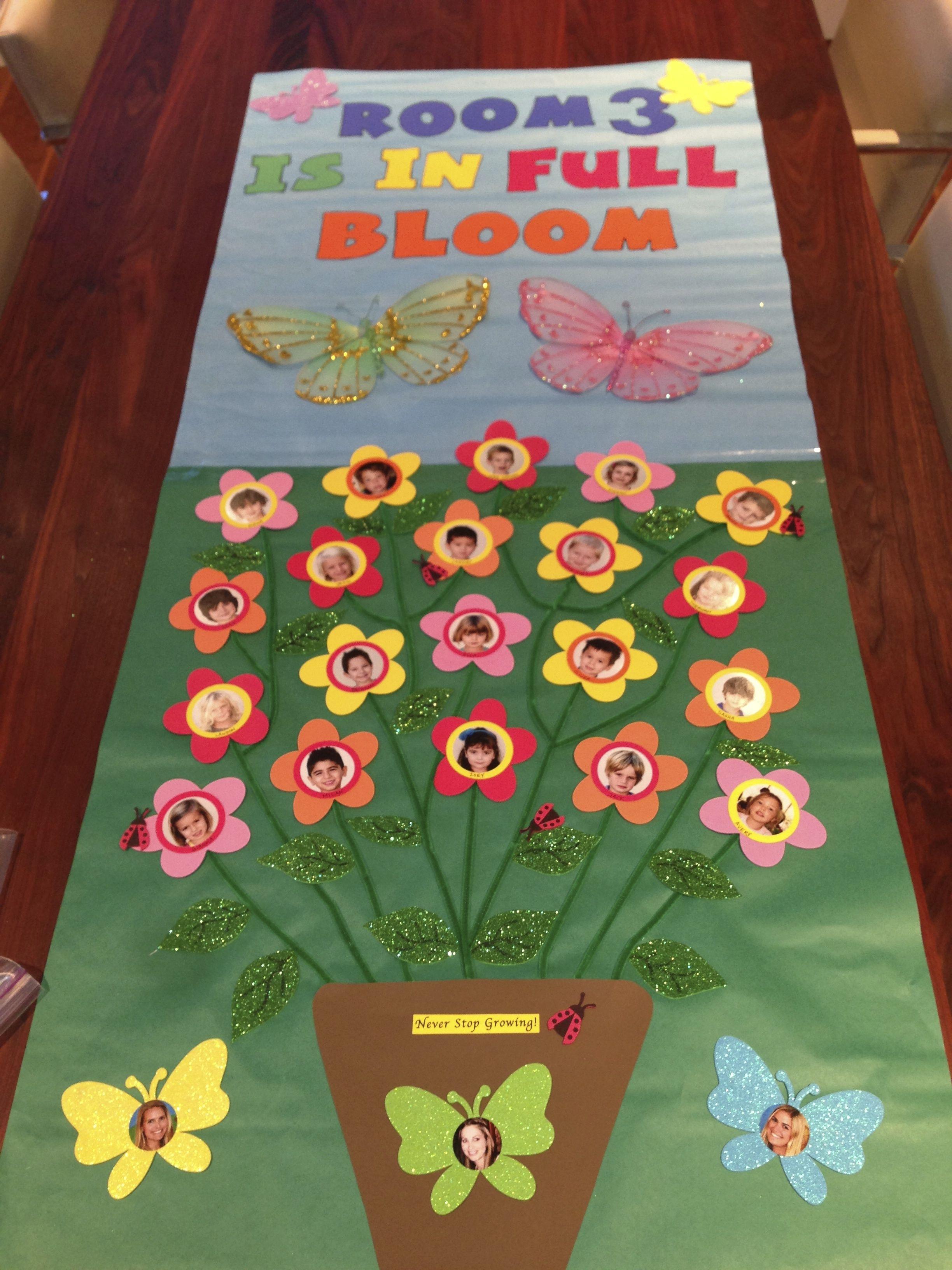Easter door decoration ideas for school funnycrafts - Spring Door Decoration
