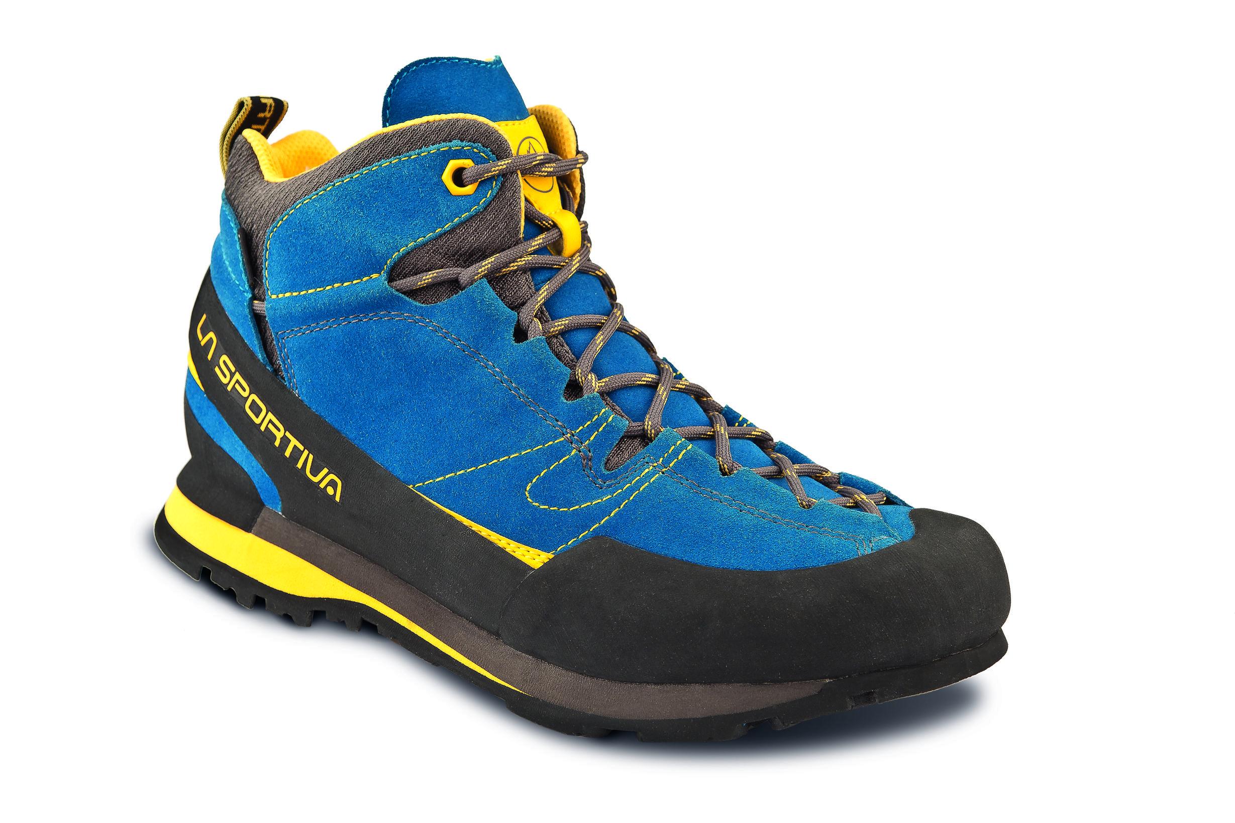 la sportiva boulder x mid blue yellow ute sneakers. Black Bedroom Furniture Sets. Home Design Ideas