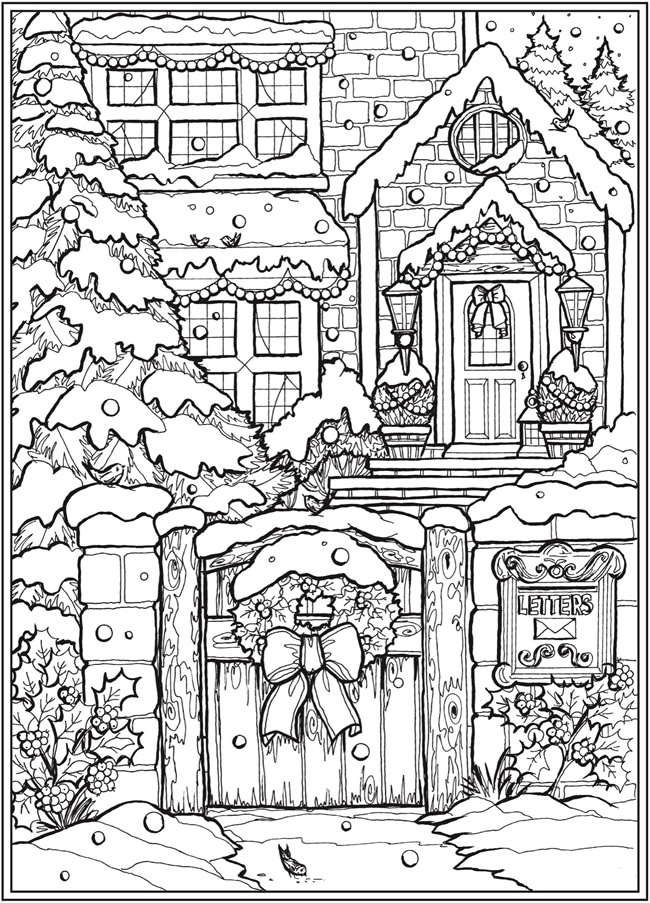 Welcome To Dover Publications In 2020 Dover Coloring Pages Detailed Coloring Pages Christmas Coloring Pages