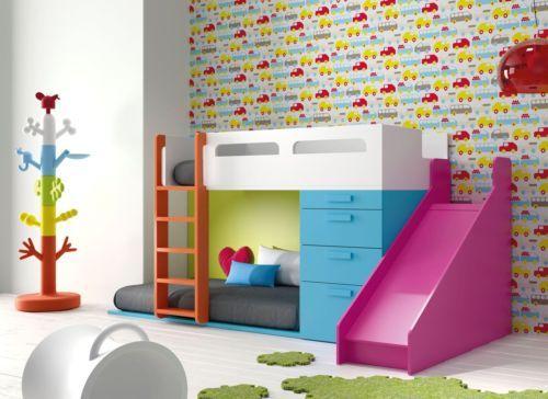 Design Kinderzimmer Hochbett Mit Leiter Rutsche Und Kuschelecke 35