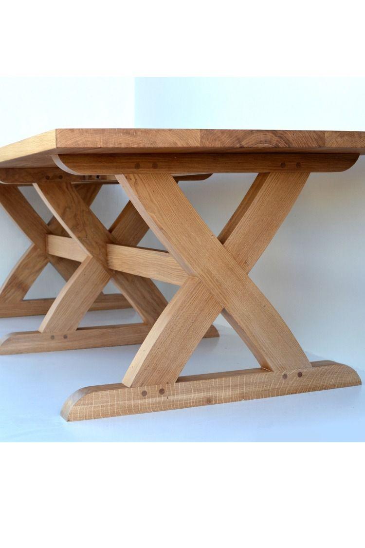 Sawbuck Oak Dining Table Oak Dining Table Dining Table Legs Dining Table