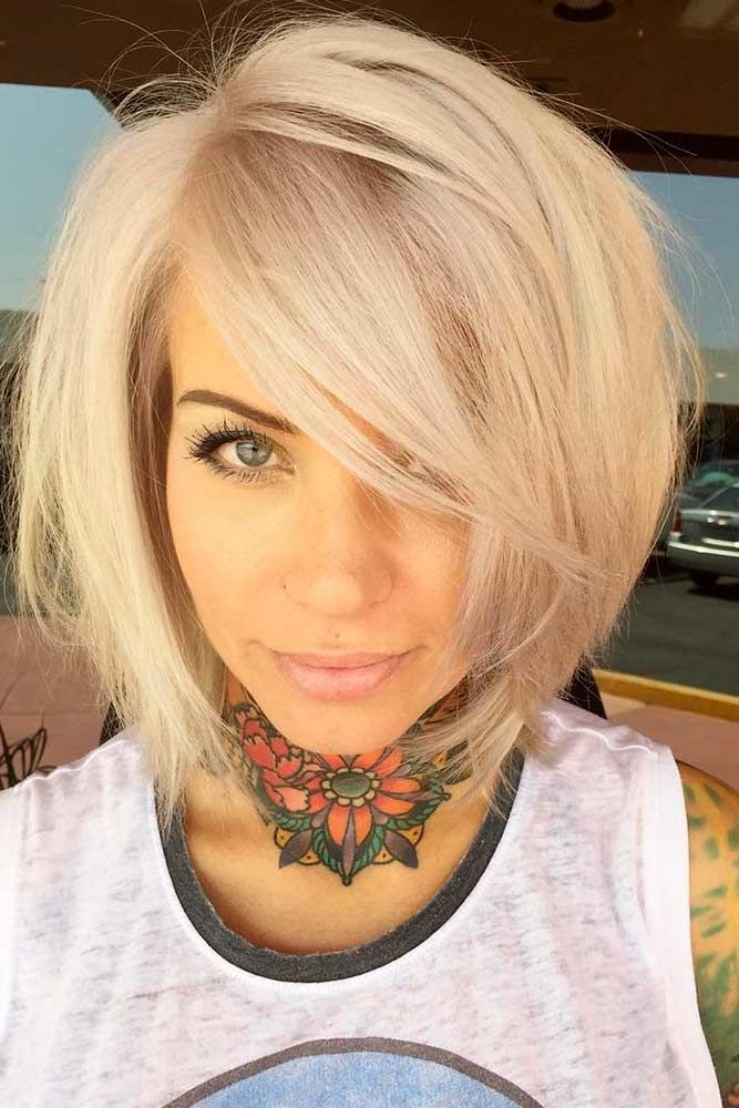 36++ Blonde bob hairstyles with fringe ideas
