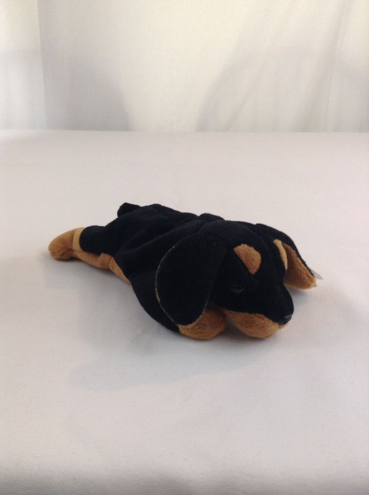 5802abcae2f 1996 Ty Beanie Baby Doby The Doberman Dog Stuffed Plush Animal Toy W  Tag   Ty