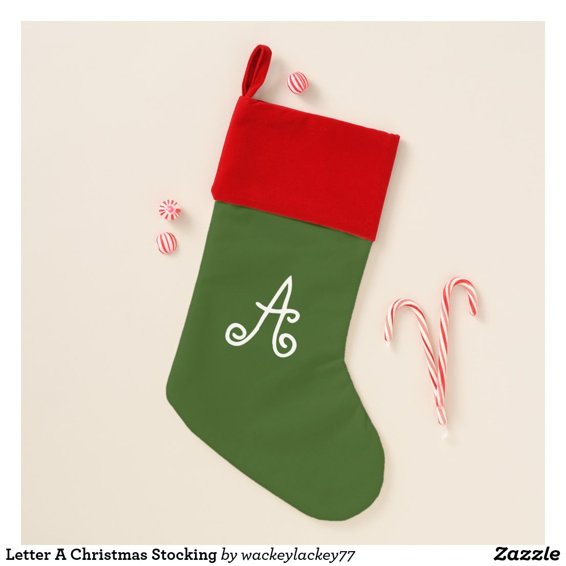 Letter Christmas Stockings.Letter A Christmas Stocking Zazzle Com Christmas Stockings