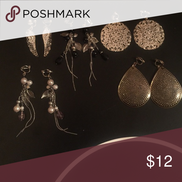Earrings 5 pairs of clip on earrings. Original price is the value of all the earrings Other