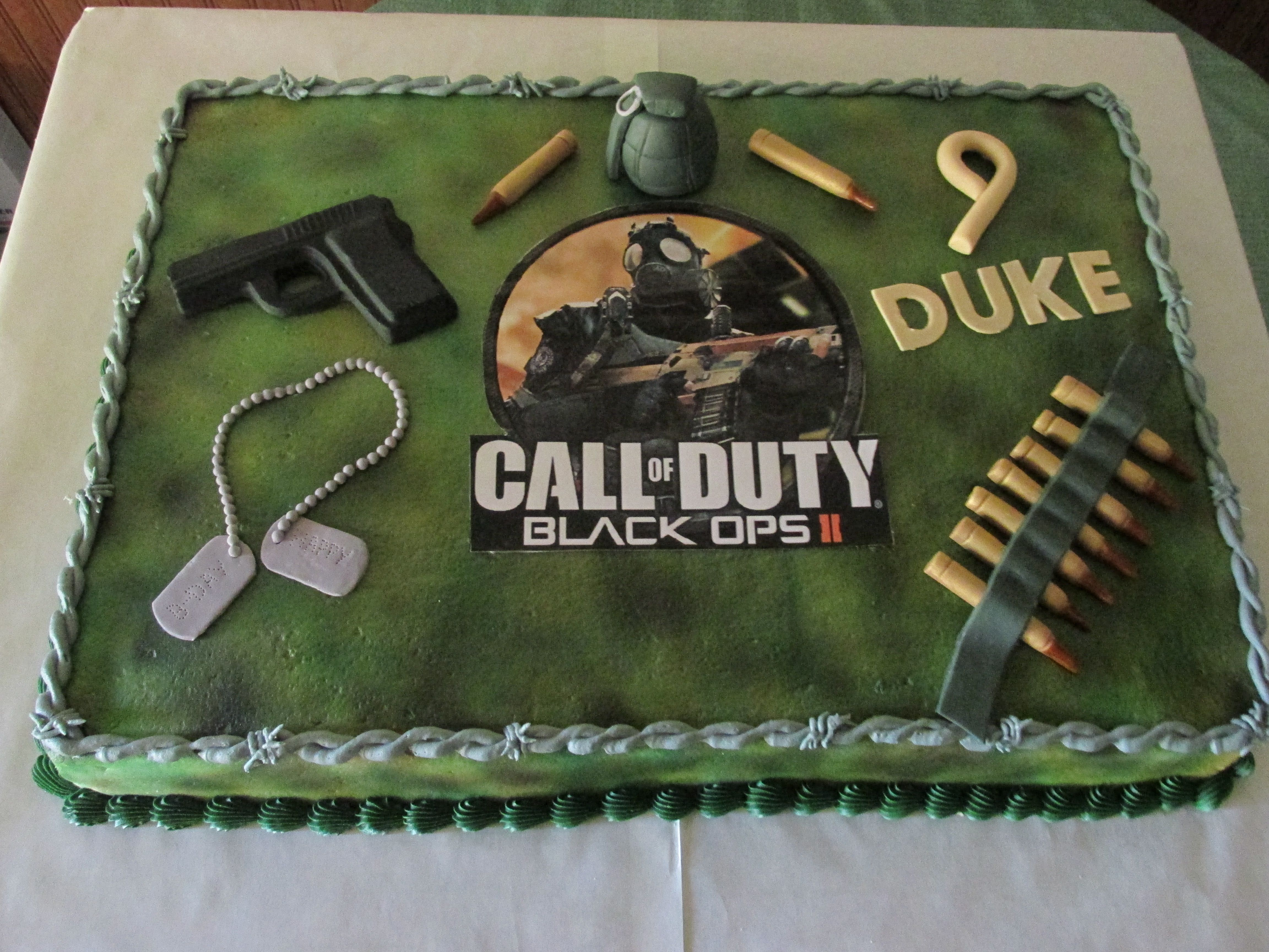 Call Of Duty Black Ops 11 Cake Full Sheet Cake Everything Made