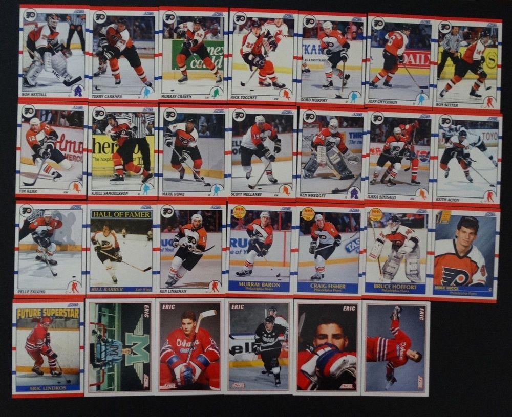 199091 score american philadelphia flyers team set of 27