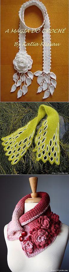 Идеи оригинальных шалей и шарфов..
