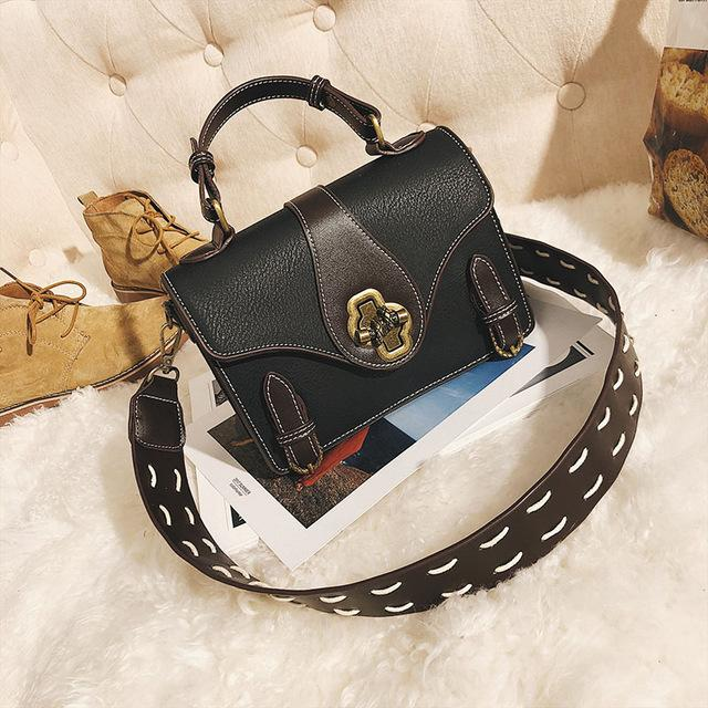 2800a5979 Women s Shoulder Bag with Tied Knot Lock Design and Two Belt Decor ...
