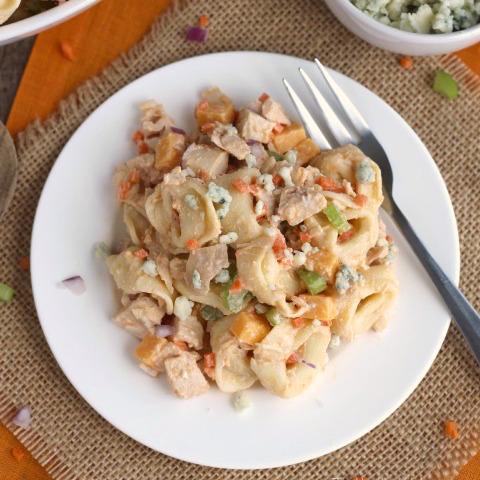 Buffalo Chicken Pasta Salad - Two Healthy Kitchens