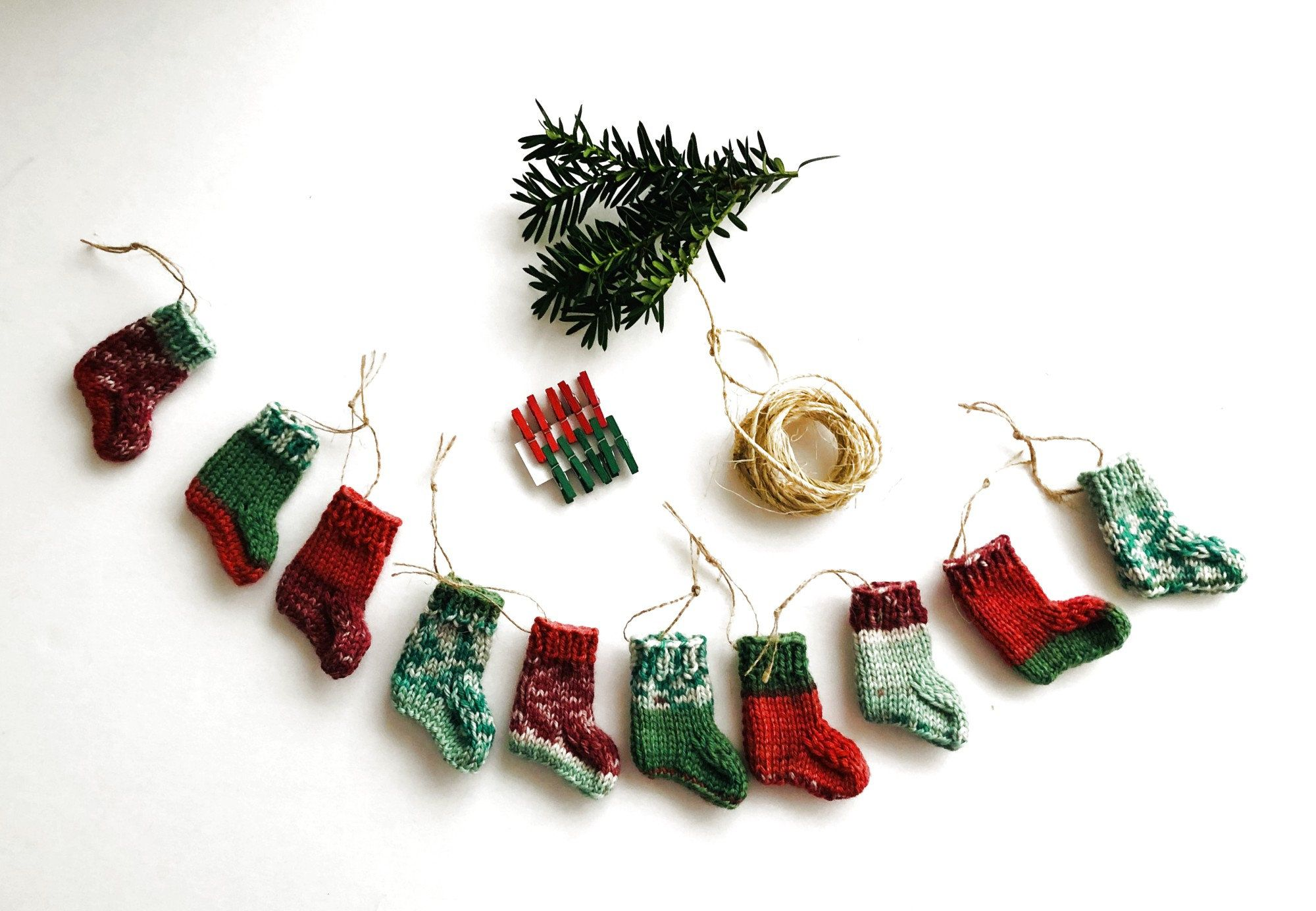 Santa red Star Heart Tree Christmas Decorations garland bunting Snowflake