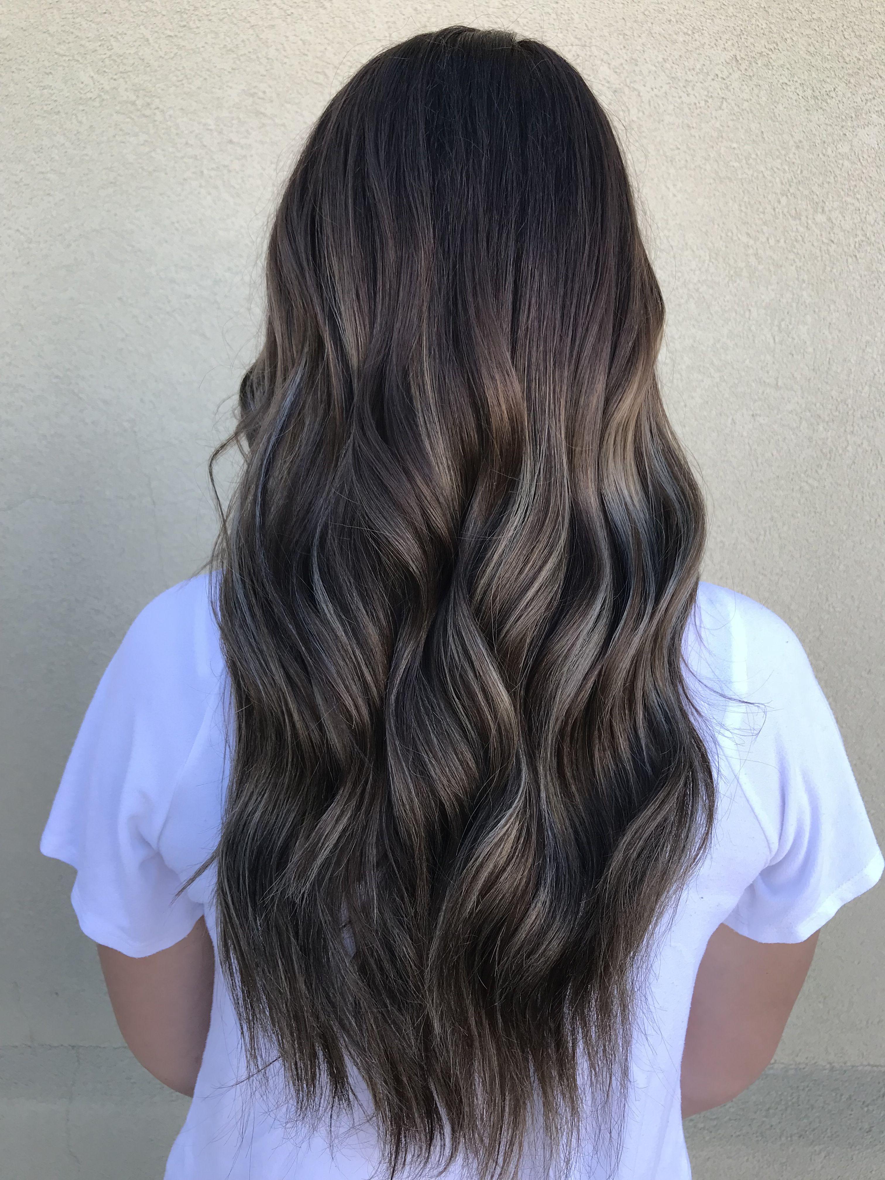 Dark Brown Into Ashy Balayage Hair By Bracail Dark Brown Hair Balayage Brown Hair Balayage Black Hair Balayage