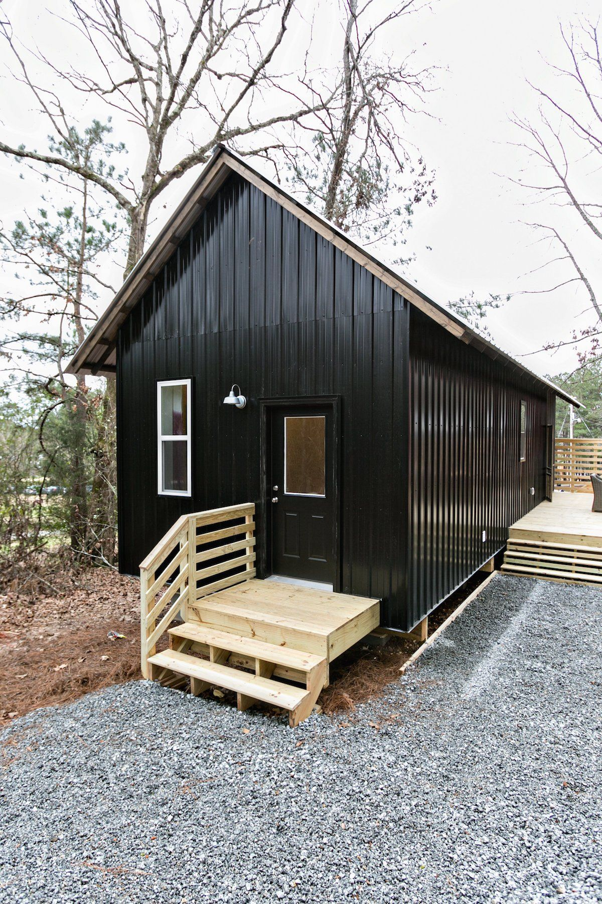 The 500 Square Foot Homes Walls Are Primarily Made From Local Pine
