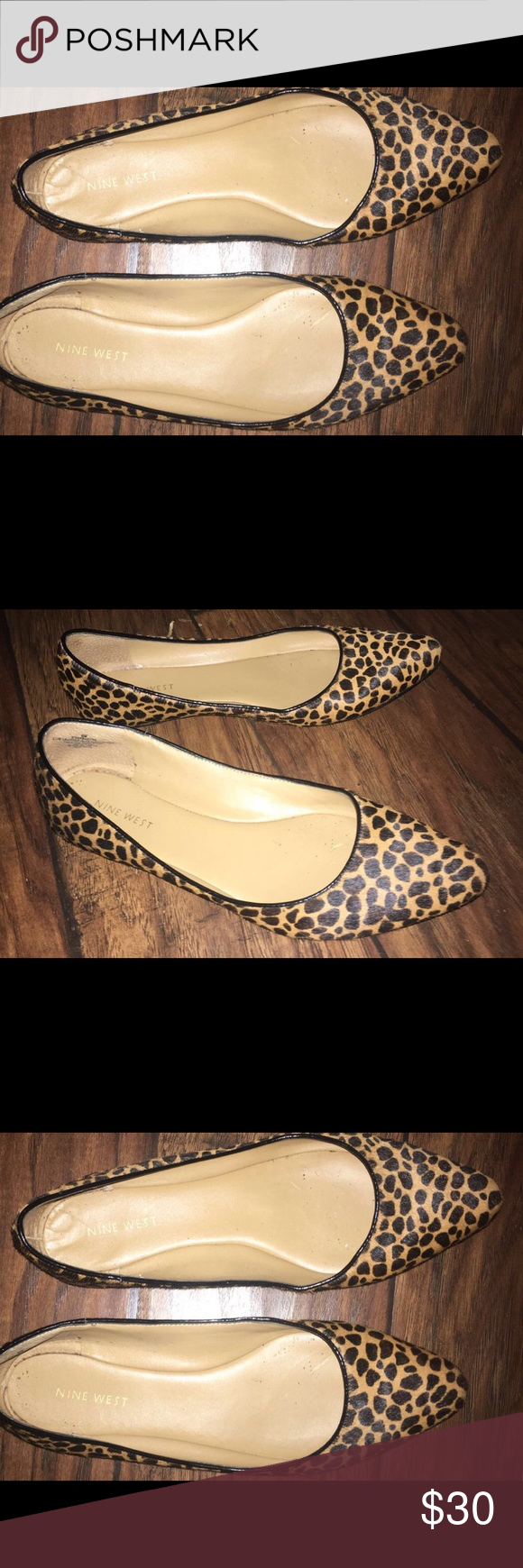 Nine West flats Worn maybe 4 times. Size 8, in great shape! Nine West Shoes Flats & Loafers